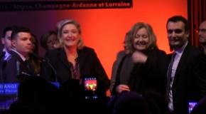 Marine Le Pen vient soutenir Florian Philippot lors d'un meeting à Hayange