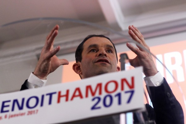 Benoît Hamon en meeting à Nancy